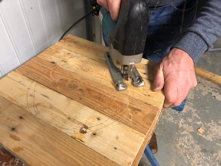 Use a handsaw or jigsaw to remove the circle