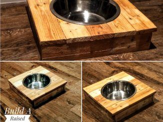 Build a Raised Dog Bowl Stand